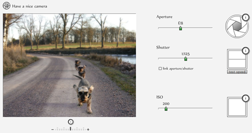 relationship between lens aperture and shutter speed